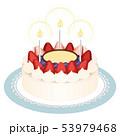 ケーキ ショートケーキ 白バックのイラスト 53979468