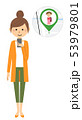 若い女性 スマホ GPS 53979801