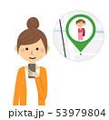 若い女性 スマホ GPS 53979804