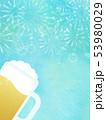 背景-ビール-ジョッキ-ブルー-花火 53980029