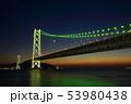 明石海峡大橋 ライトアップ 53980438