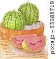 スイカ-木桶-氷-夏 53988719