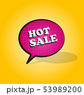 Comic pink speech bubble with expression text HOT 53989200