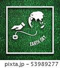 White frame with had unplugging from the earth as energy saving 53989277