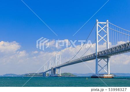 香川_四国側からの瀬戸大橋 53998327