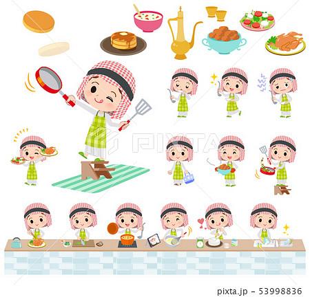 Arab boy_cooking 53998836