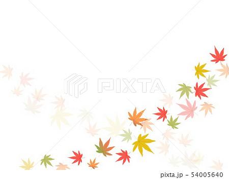 カラフル紅葉キラキラ背景 54005640