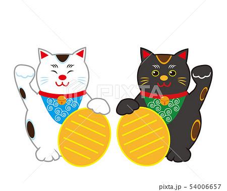 猫 招き猫 小判 黒猫  54006657