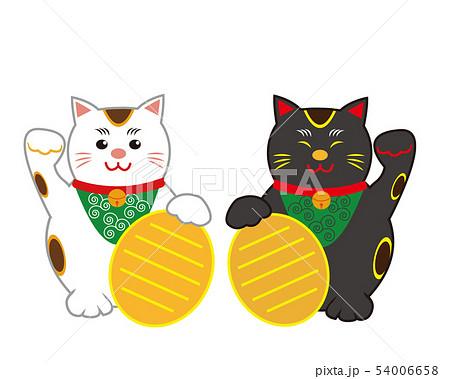 猫 招き猫 小判 黒猫  54006658