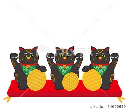 猫 招き猫 小判 黒猫  54006659