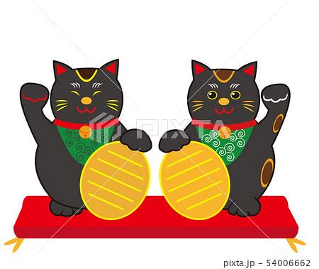 猫 招き猫 小判 黒猫  54006662