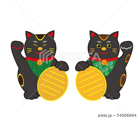 猫 招き猫 小判 黒猫  54006664