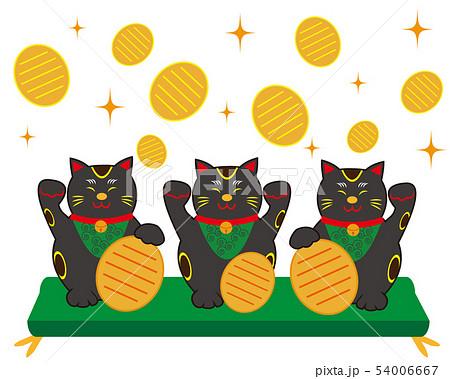 猫 招き猫 小判 黒猫  54006667