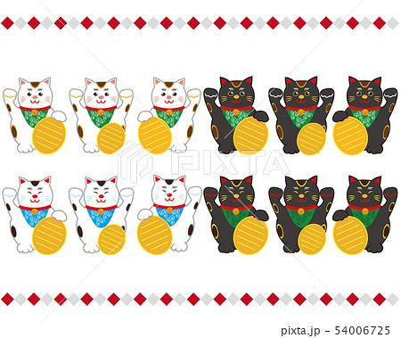 猫 招き猫 小判 黒猫  54006725