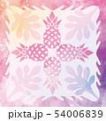 ハワイアンキルト パターン トロピカルのイラスト 54006839