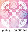 ハワイアンキルト パターン トロピカルのイラスト 54006842