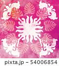 ハワイアンキルト パターン トロピカルのイラスト 54006854