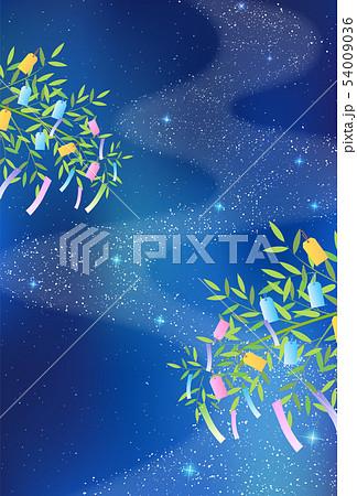 七夕 天の川 飾り 背景  54009036