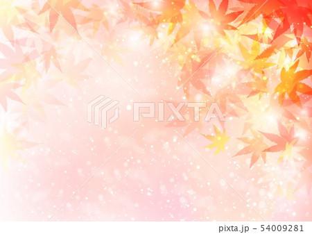 背景秋色キラキラ紅葉 54009281