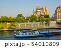 Seine River and the Repair of Notre Dame after the 54010809