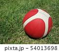 バスケットボールが晴天に 54013698