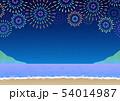 背景素材_浜辺の花火大会 54014987