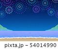 背景素材_浜辺の花火大会 54014990