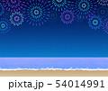 背景素材_浜辺の花火大会 54014991