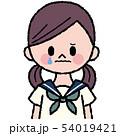 白バック 女子 学生のイラスト 54019421