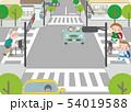横断歩道と交差点16 54019588