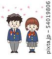 高校生 入学 桜吹雪のイラスト 54019806