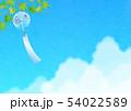 背景素材_風鈴と入道雲 54022589