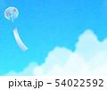 背景素材_風鈴と入道雲 54022592