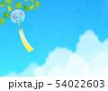背景素材_風鈴と入道雲 54022603