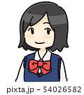 ショートヘアの女子学生 長袖 54026582
