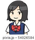 ショートヘアの女子学生 長袖 54026584