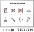 Wedding elements LineColor pack 54031349