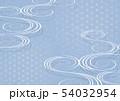 和風の流水文様.背景素材. 54032954