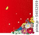 和風の花.背景素材. 54032959