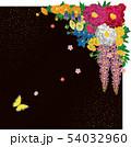 和風の花と蝶.背景素材. 54032960