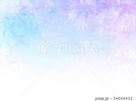 紫背景キラキラ紅葉 54034431