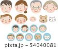 三世代家族 アイコン(犬&猫付き)17 54040081
