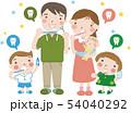 家族で歯磨き(5人家族)23 54040292