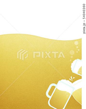 背景-ビール-泡-乾杯 54040360
