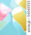 背景-ビール-乾杯-ブルー 54040555