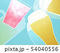 背景-ビール-乾杯-ブルー 54040556
