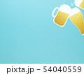 背景-ビール-乾杯-ブルー 54040559