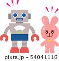 レトロな玩具のロボット 54041116