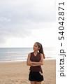 Young beautiful Asian tourist woman enjoying vacation 54042871