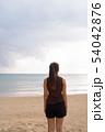 Young beautiful Asian tourist woman enjoying vacation 54042876